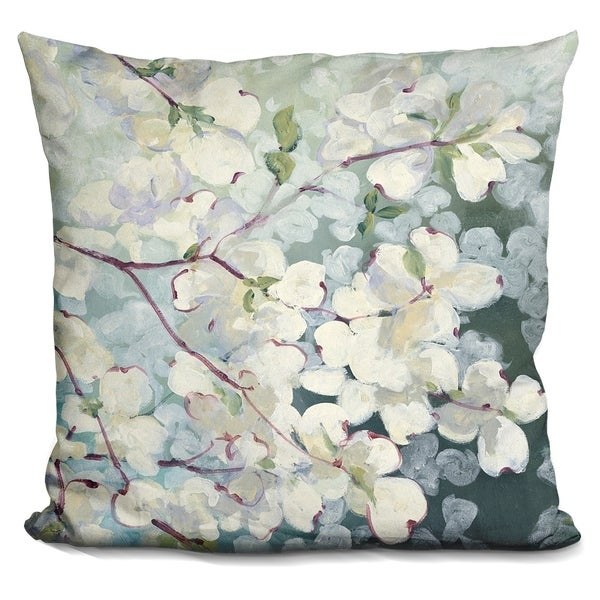 Lilipi Magnolia Delight Decorative Accent Throw Pillow