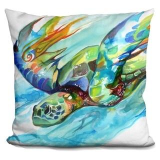 Lilipi Sea Turtle Decorative Accent Throw Pillow