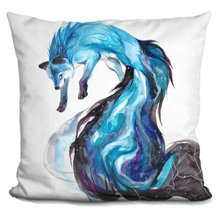 Lilipi Galaxy Fox Decorative Accent Throw Pillow