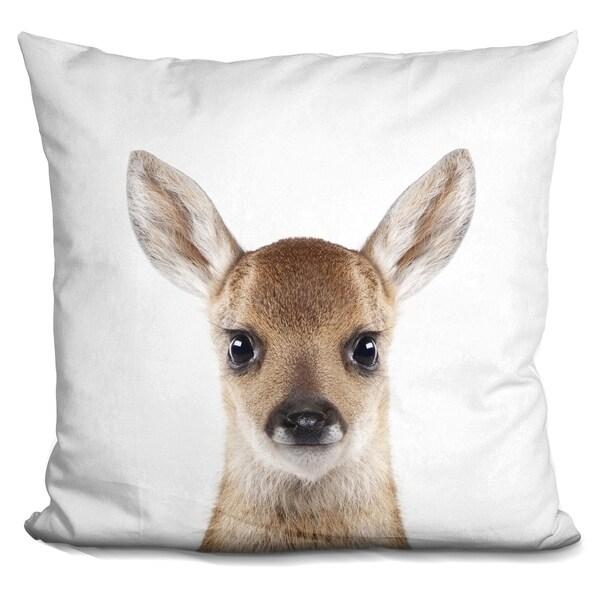 Lilipi Baby Deer Decorative Accent Throw Pillow
