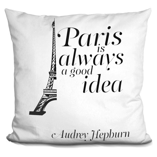 Lilipi Paris Decorative Accent Throw Pillow