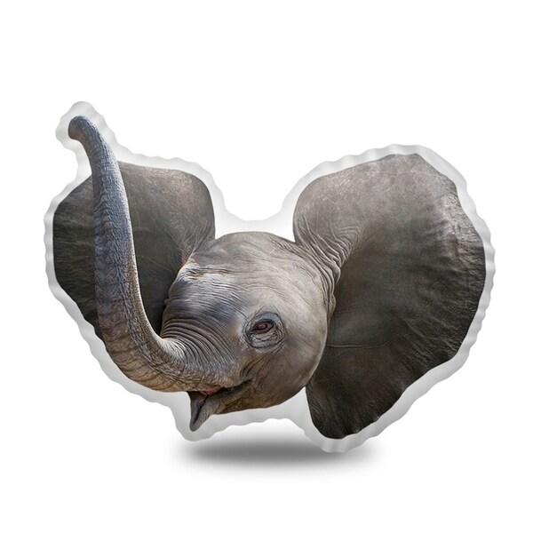 Lilipi Baby Elephant Decorative Accent Throw Pillow