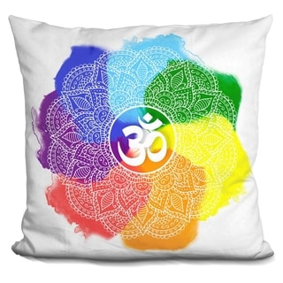 Lilipi Mandala Chakra Decorative Accent Throw Pillow
