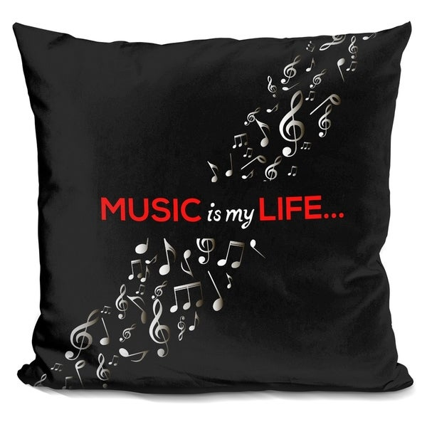 Lilipi Music Is Decorative Accent Throw Pillow