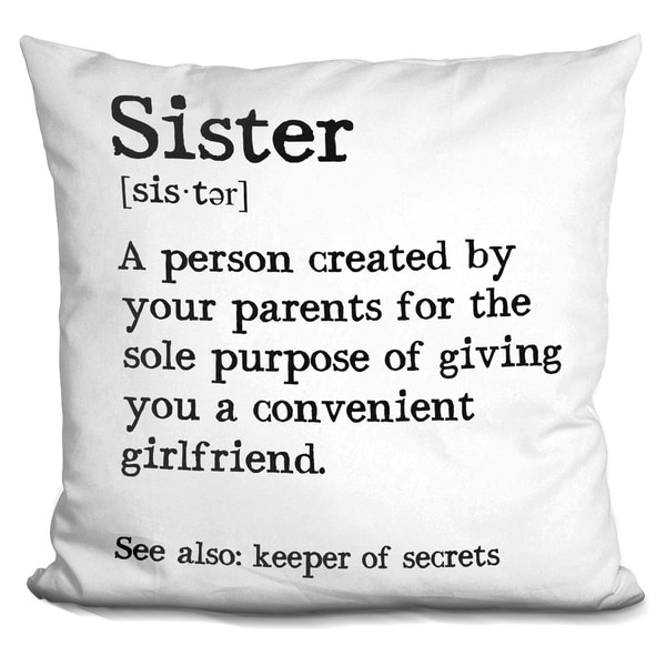 Lilipi Sister Decorative Accent Throw Pillow