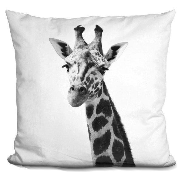 Lilipi Giraffe Bw Decorative Accent Throw Pillow
