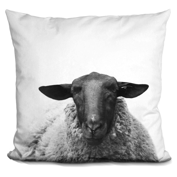 Shop Lilipi Sheep Bw Decorative Accent Throw Pillow On