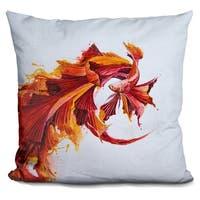 Lilipi Ignite Print Decorative Accent Throw Pillow