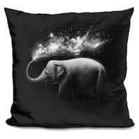 Lilipi Elephant Splash Decorative Accent Throw Pillow