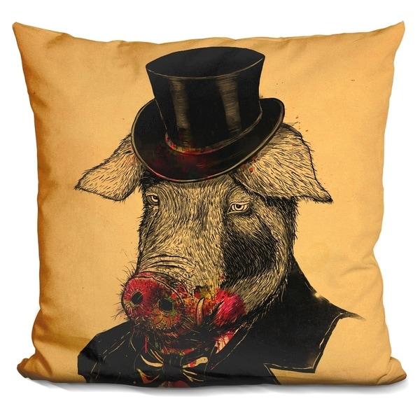 Lilipi Mr Pig Decorative Accent Throw Pillow
