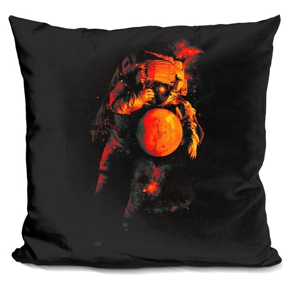 Lilipi It'S A Small World After All Mars Decorative Accent Throw Impressive Small Decorative Throw Pillows