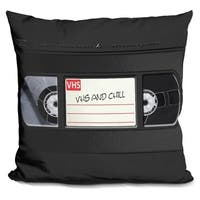 Lilipi Vhs And Chill Decorative Accent Throw Pillow