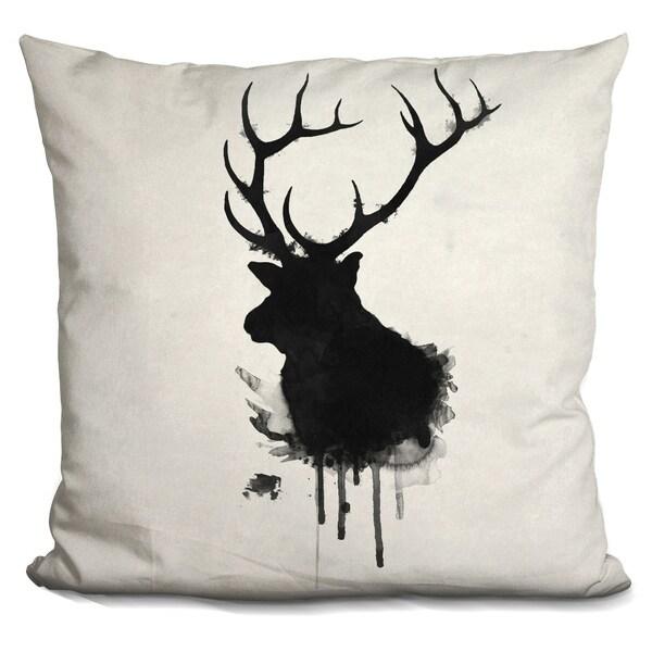 Lilipi Elk Decorative Accent Throw Pillow