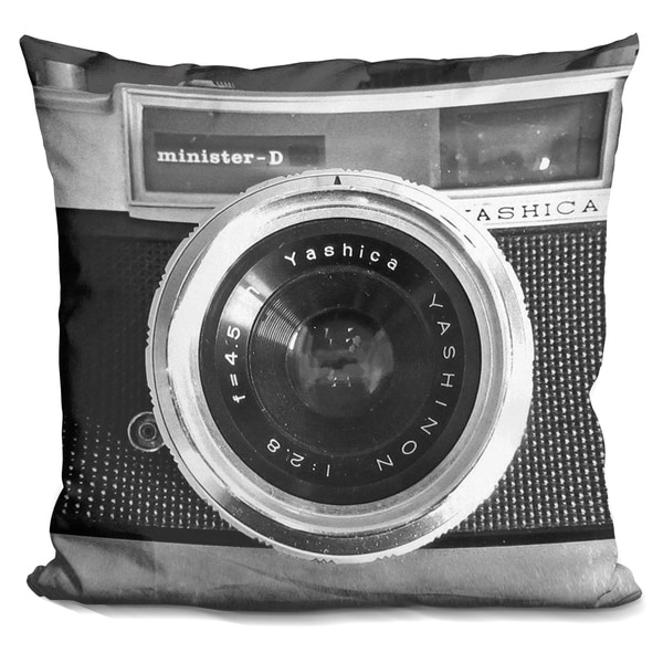 Lilipi Camera Decorative Accent Throw Pillow