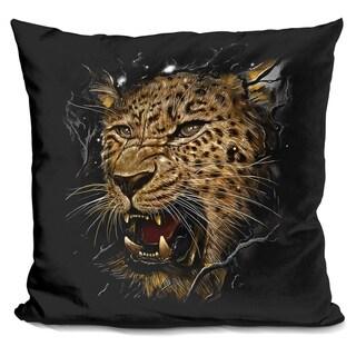 Lilipi Leopard Decorative Accent Throw Pillow