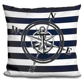 Lilipi Navy Striped Nautica Decorative Accent Throw Pillow