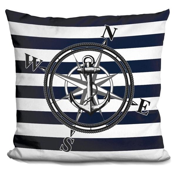 Shop Lilipi Navy Striped Nautica Decorative Accent Throw
