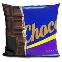 Lilipi Chocolate Decorative Accent Throw Pillow
