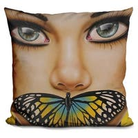 Lilipi Butterfly Thoughts Decorative Accent Throw Pillow