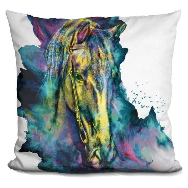 Lilipi Horse Chained Beauty Decorative Accent Throw Pillow