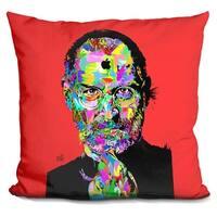 Lilipi Steve Jobs Decorative Accent Throw Pillow