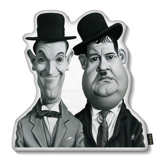 Lilipi Laurel And Hardy Decorative Accent Throw Pillow