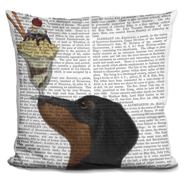 Lilipi Dachshund, Black And Tan, Ice Cream Decorative Accent Throw Pillow