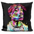 Lilipi Tupac Black Decorative Accent Throw Pillow