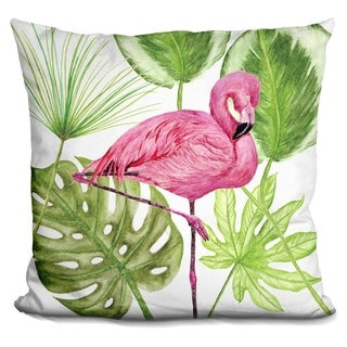 Lilipi Tropical Flamingo Ii Decorative Accent Throw Pillow