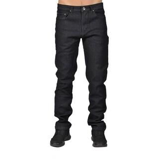 Dirty Robbers Mens Fashion Chino Denim Pants Black Denim
