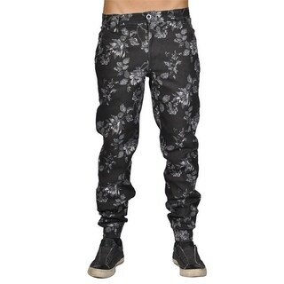 Dirty Robbers Fashion Chino Pants Straight Fit Floral