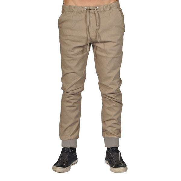 Dirty Robbers Men's Fashion Knitted Cuff Ankle Joggers Khaki - 3x