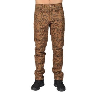 Dirty Robbers Camo Military Design Joggers Chino Pants Khaki Camo