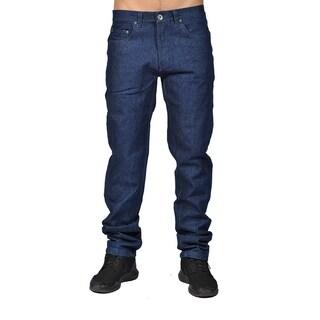 Dirty Robbers Mens Fashion Chino Denim Pants Navy Denim