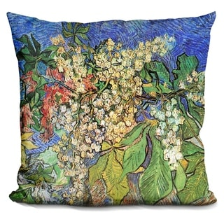 Lilipi Blossoming Chestnut Branches Decorative Accent Throw Pillow