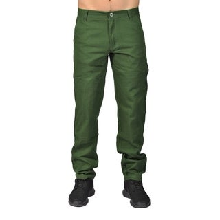 Men's Fashion Chino Pants with Side Pocket Forest - 30