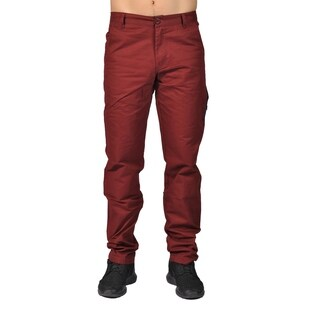 Men's Fashion Chino Pants with Side Pocket Eggplant