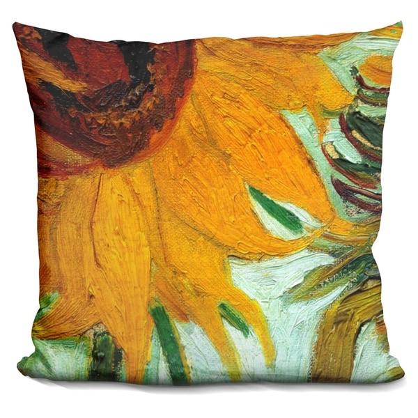 Lilipi Twelve Sunflowers Decorative Accent Throw Pillow