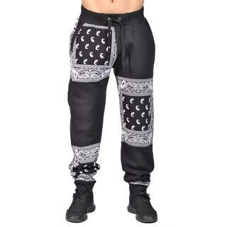 Knockout Mens Fashion Patterned JoggersBlack