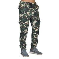 Dirty Robbers 6 pocket Black Drawstring Cuffed Joggers Woodland