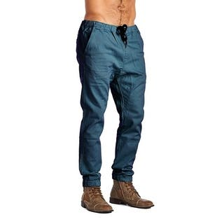 Dirty Robbers Men's Fashion 4 Pocket Ribbed Cuff Ankle Joggers Navy|https://ak1.ostkcdn.com/images/products/18549923/P24650426.jpg?impolicy=medium