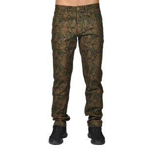 Dirty Robbers Camo Military Design Joggers Chino Pants Olive Camo