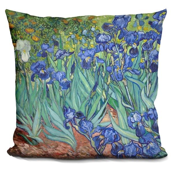 Lilipi Irises Decorative Accent Throw Pillow