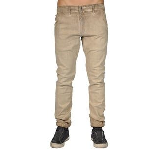 Men's Chino Zip Fly Cuff Bottom Jogger Pants Camel|https://ak1.ostkcdn.com/images/products/18549957/P24650488.jpg?impolicy=medium