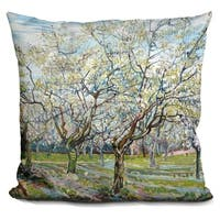 Lilipi The White Orchard Decorative Accent Throw Pillow
