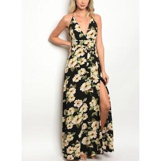 JED Women's Floral Halter Wrap Style Dress