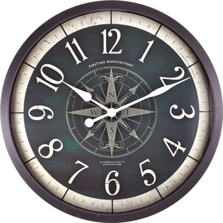 "FirsTime® Compass Rose Wall Clock - 24"""