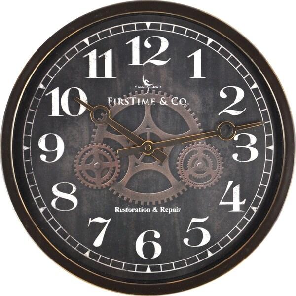 FirsTime® Industrial Gears Wall Clock