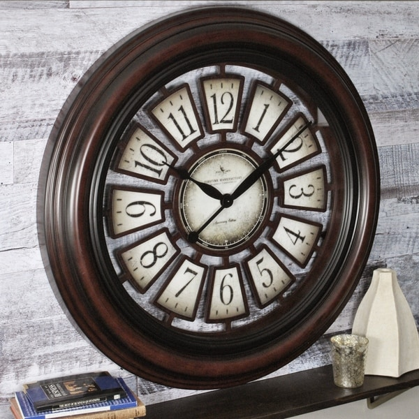 """FirsTime® Majestic Hollow Wall Clock - 29"""""""