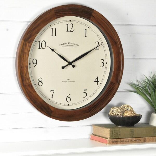 FirsTime® Walnut Garrison Wall Clock